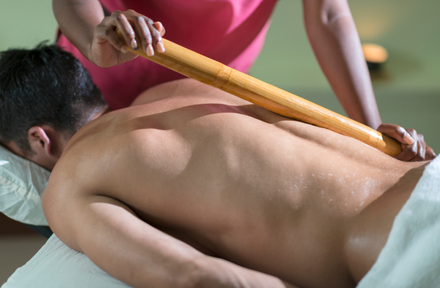 Warm Bamboo Massage at Therapy Station